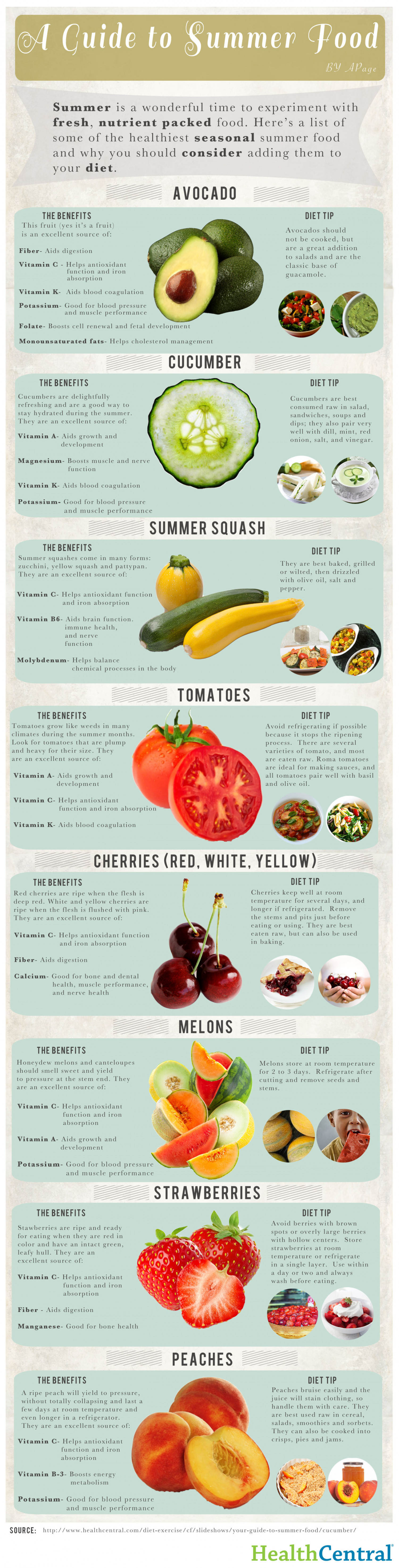 A Guide to Summer Food Infographic