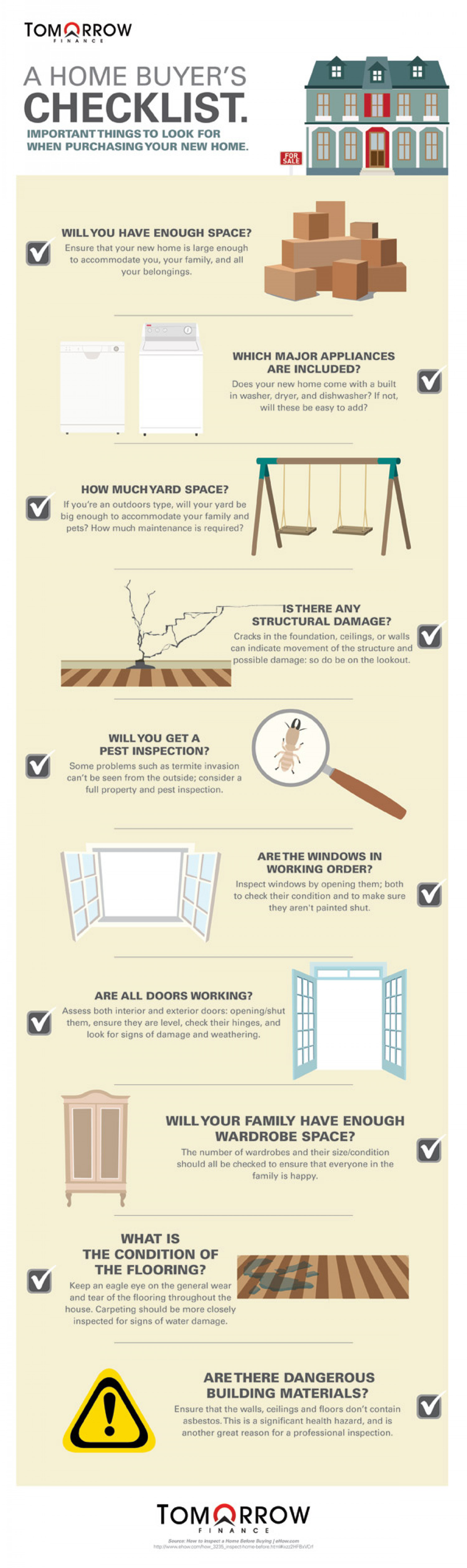 A Home Buyer's Checklist Infographic