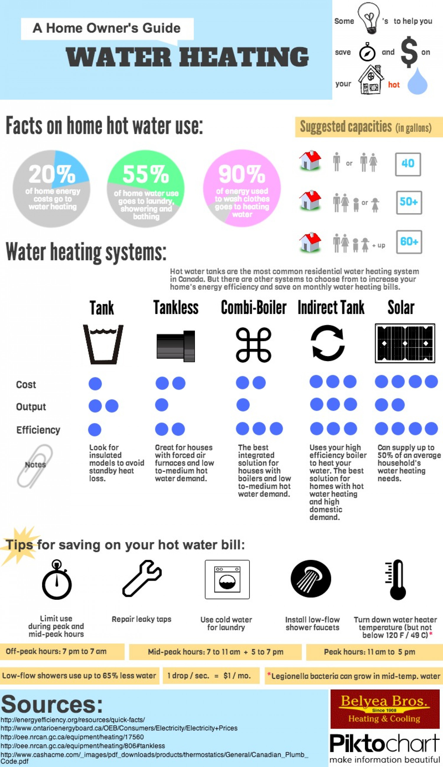 A Home Owner's Guide to Water Heating Infographic