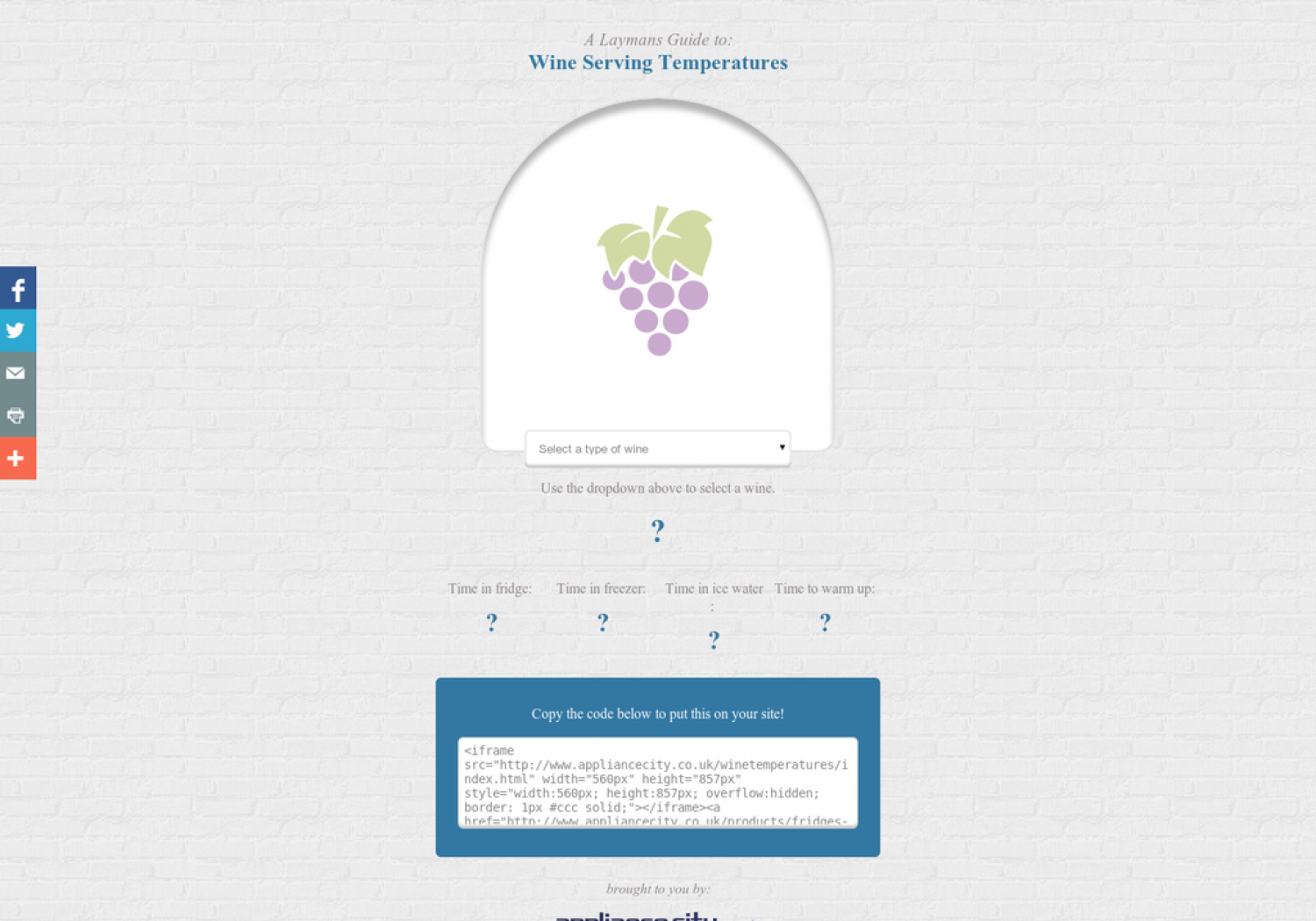 A Laymans Guide to: Wine Serving Temperatures Infographic