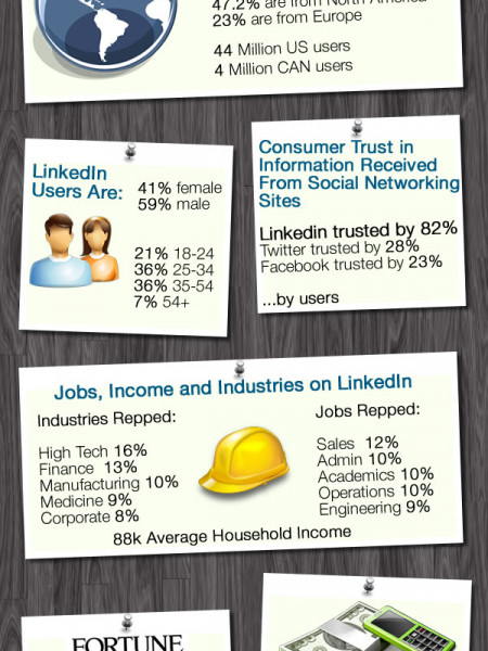 A LinkedIn Stats Snapshot Infographic