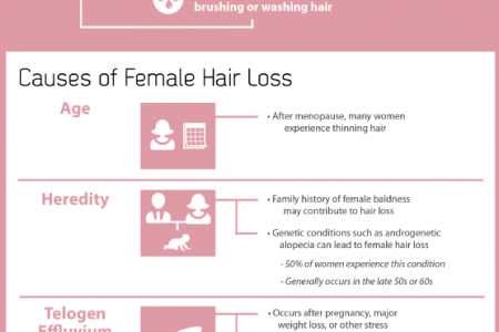 A Look at Hair Loss in Women Infographic