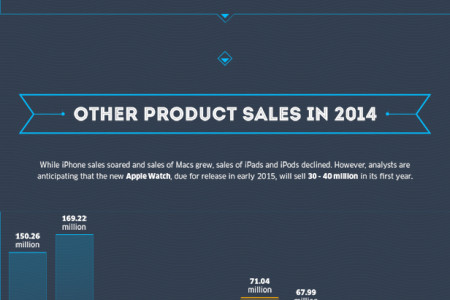 A Look Back on Apple's Year in 2014 Infographic