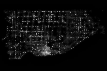 A map of every traffic signal in Toronto Infographic
