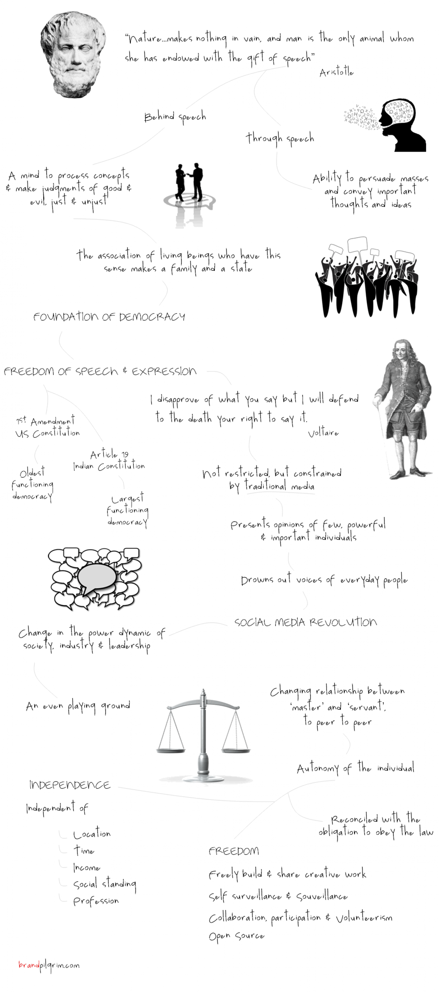 A Political Perspective of Social Media Infographic