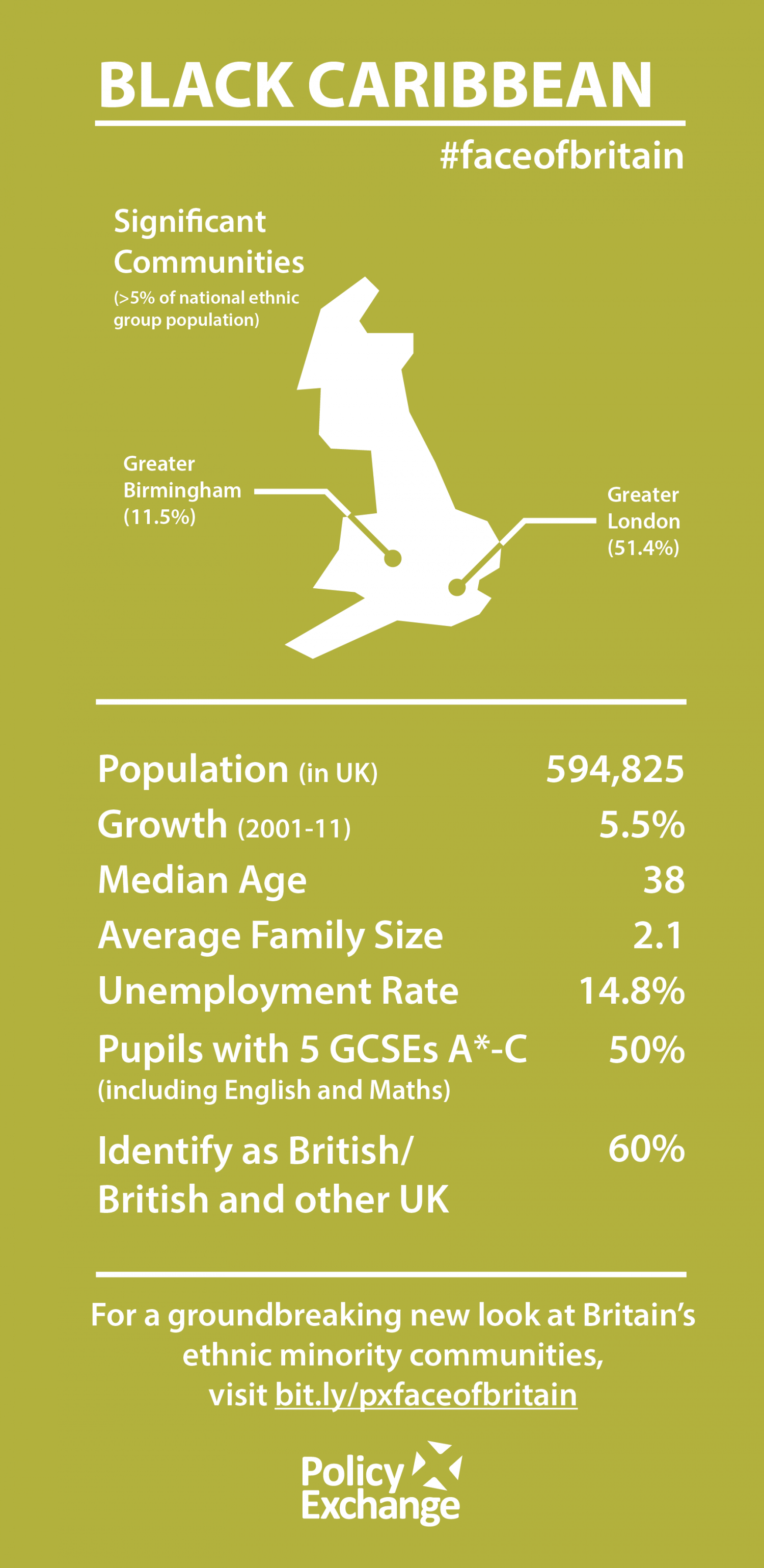 A Portrait of Modern Britain - the Black Caribbean community Infographic