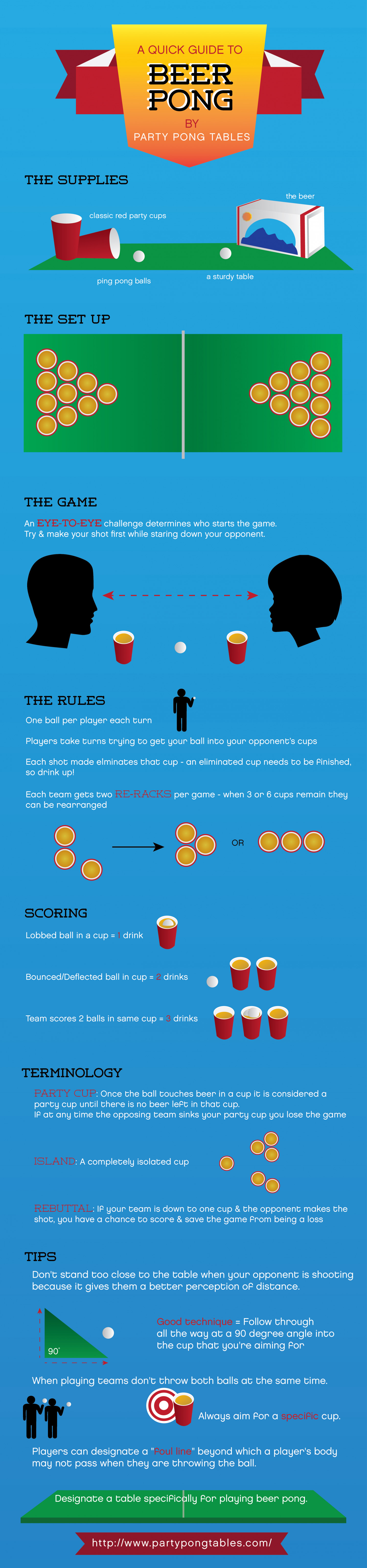 A Quick Guide to Beer Pong Infographic