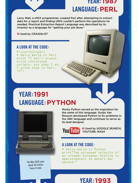 A Quick Look at Programming Languages Infographic