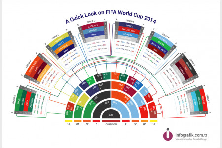 A Quick Look on FIFA World Cup 2014 Infographic