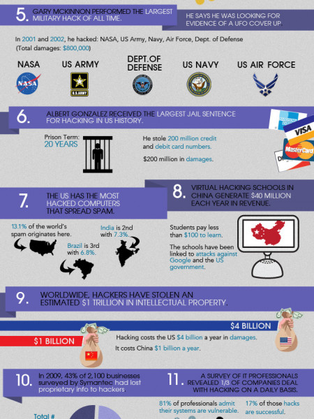 A Short Histoy of Hacking Infographic