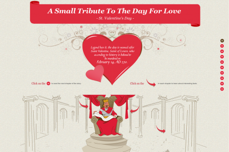 A Small Tribute To The Day For Love - St. Valentine's Day Infographic