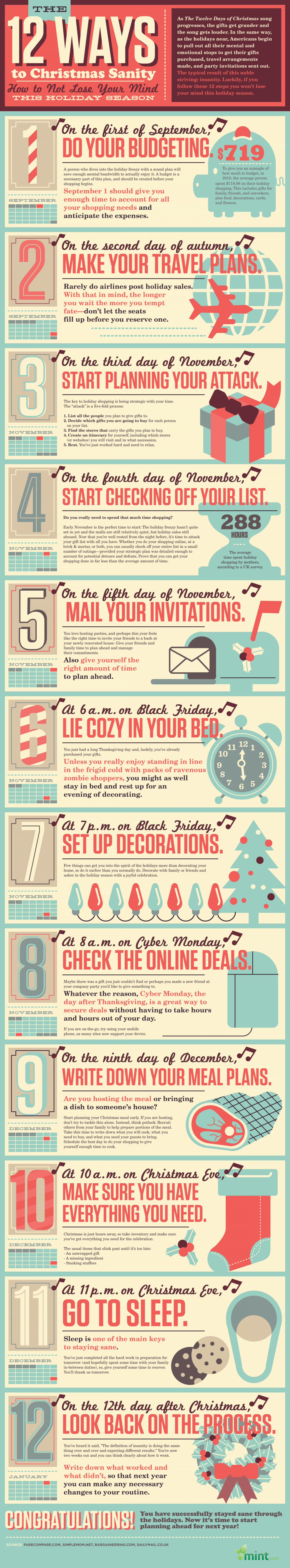 A Step-by-Step Guide to Staying Sane This Holiday Season Infographic