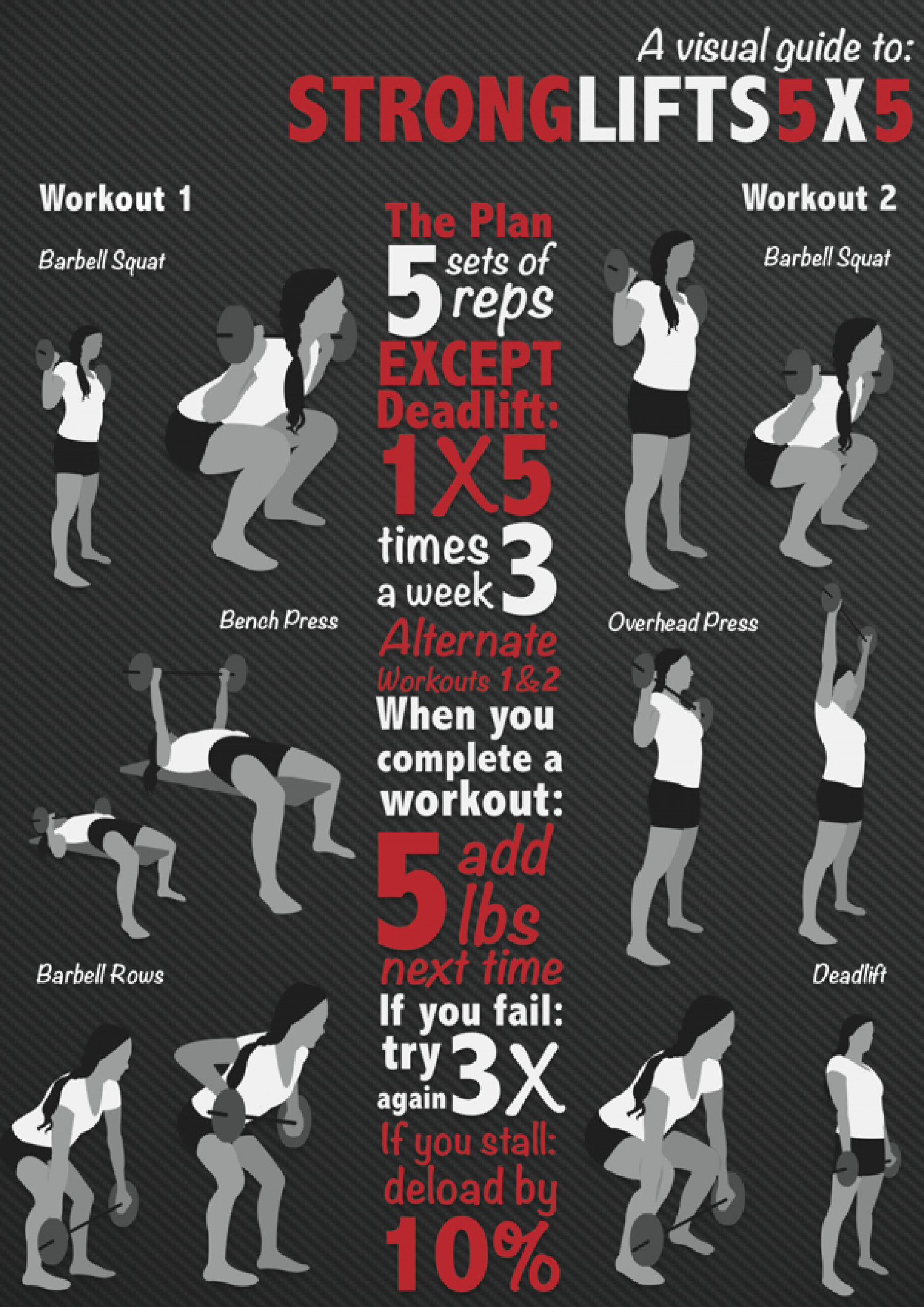 A Visual Guide to StrongLifts 5x5   Visual.ly