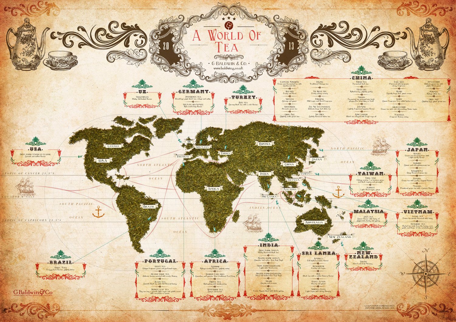 A World of Tea Infographic