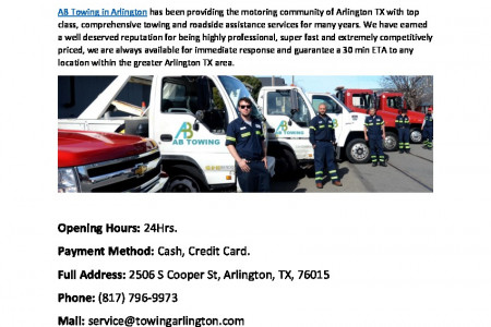 AB Towing in Arlington TX Infographic