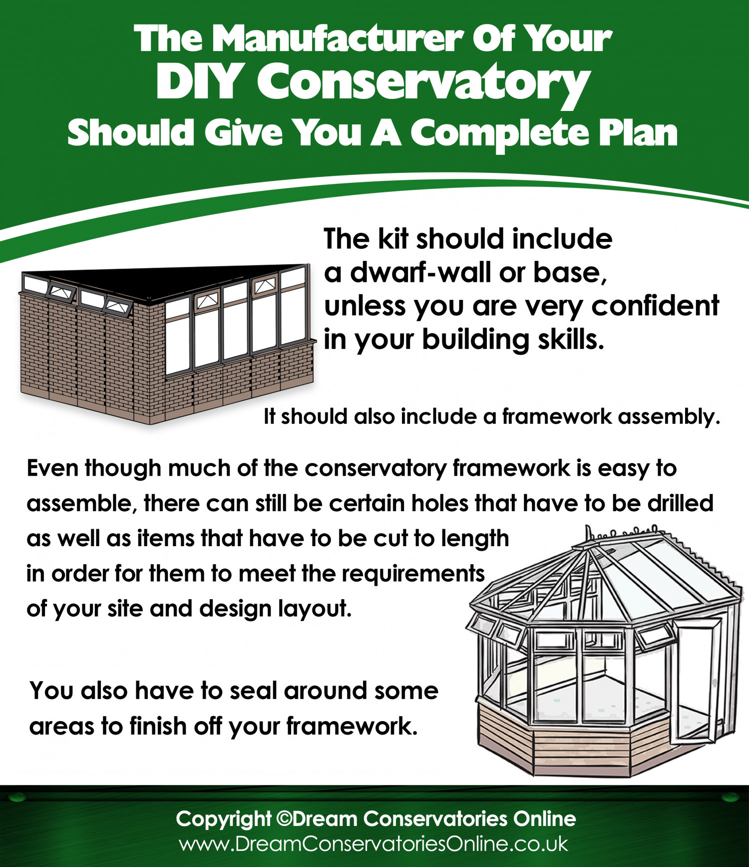 Installation of your conservatory: guidelines.