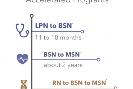 Accelerated Nursing Degree Programs Infographic