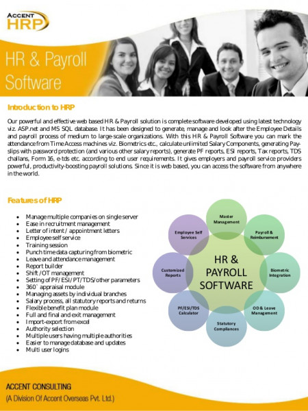 Accent Consulting - HR Payroll Software Provider Infographic