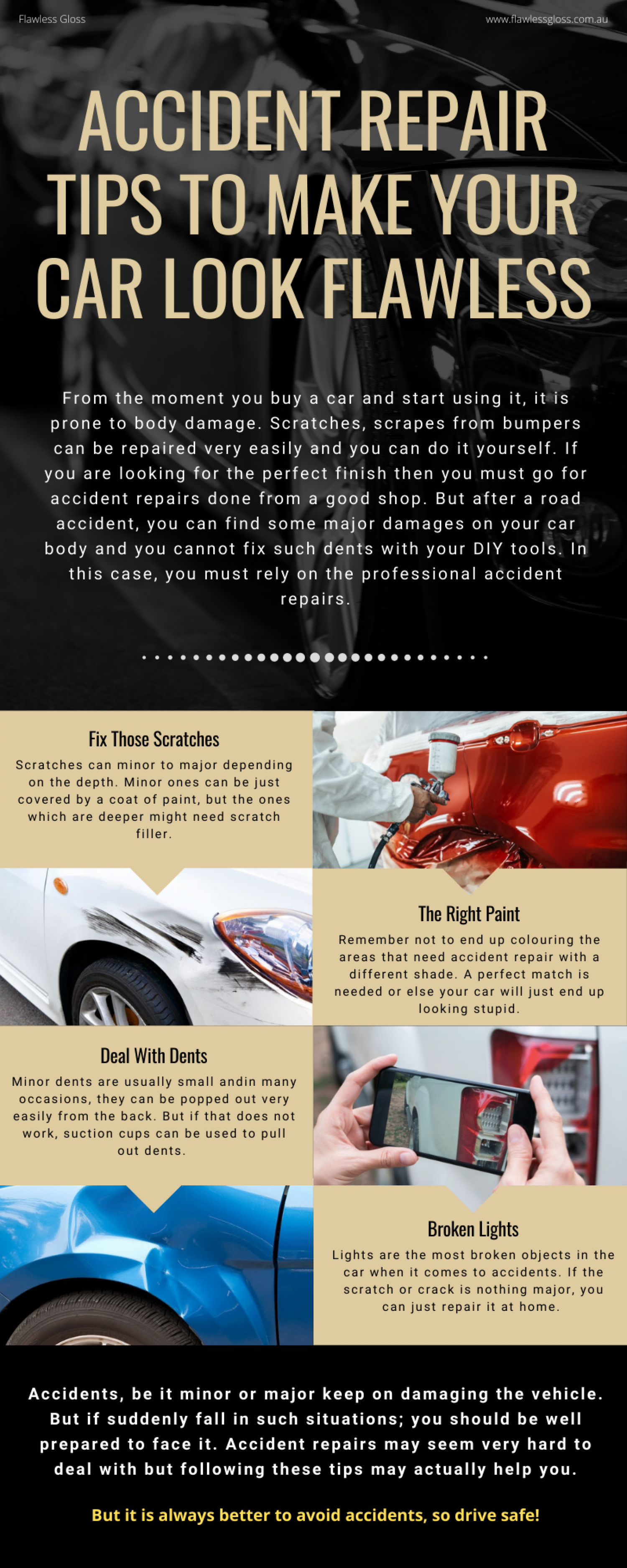 Accident Repair Tips to Make Your Car Look Flawless Infographic
