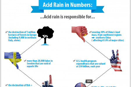 "Acid Rain: Nature's ""Tears of Paradise"" Infographic"