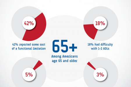 Activities of Daily Living (ADLs) in Elderly Americans Infographic