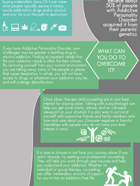 Addictive Personality Disorder – Overcoming It And Avoiding Addiction Infographic Infographic