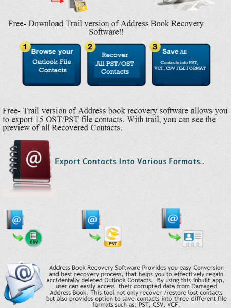 Address Book Recovery Infographic