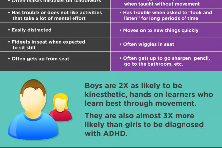 ADHD or a Hands-on-Learner? Infographic