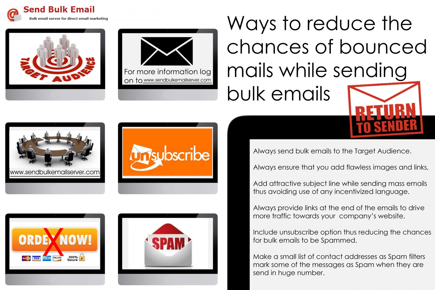 Adopt ways to reduce the chances of bounced mails while sending bulk emails Infographic