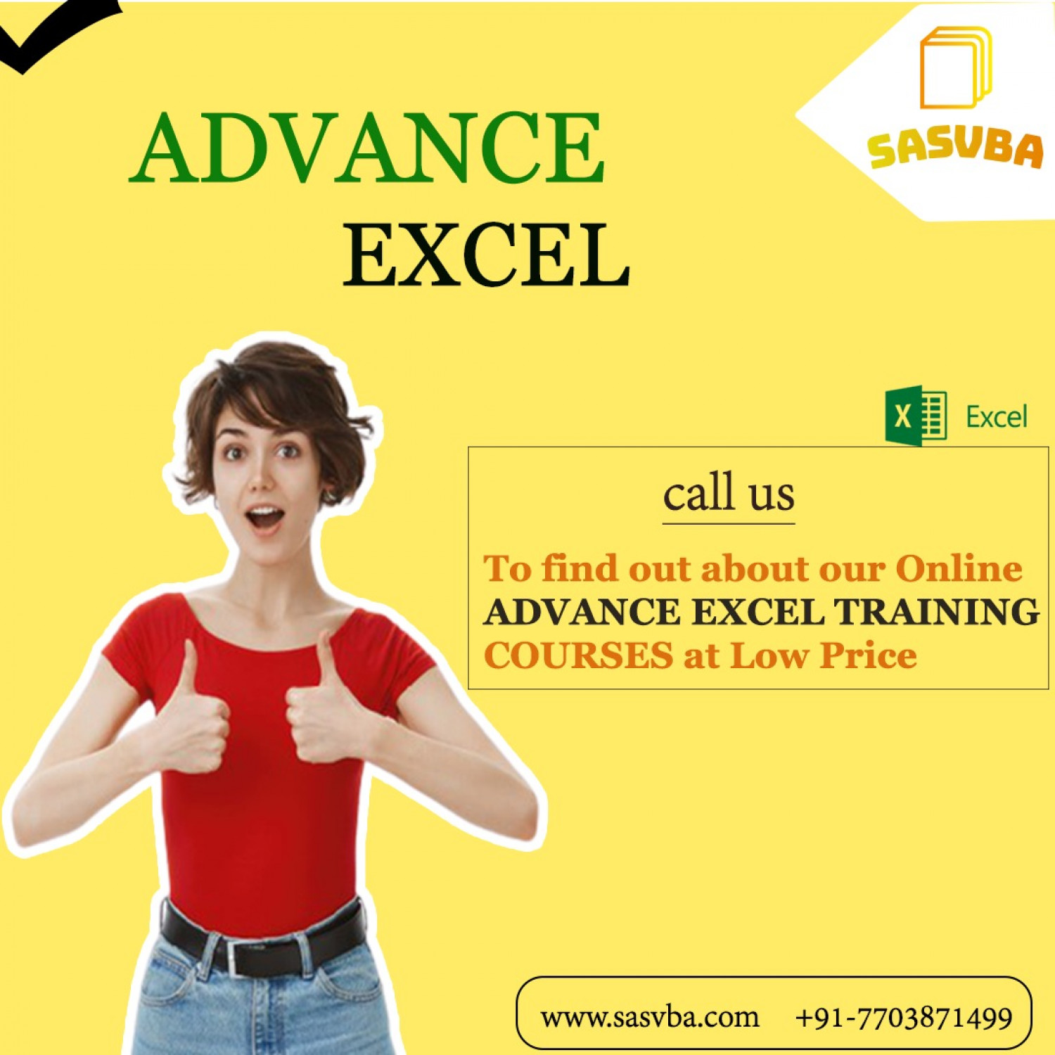 Advance Excel Course Infographic