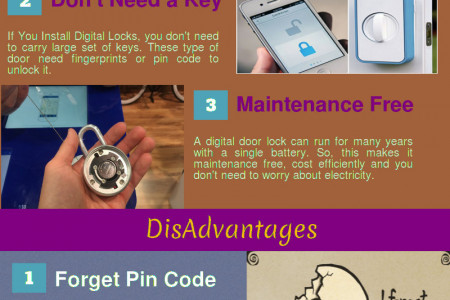 Advantages And Disadvantages Of Keyless Doors Infographic