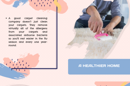 Advantages of Carpet Cleaning Services Infographic