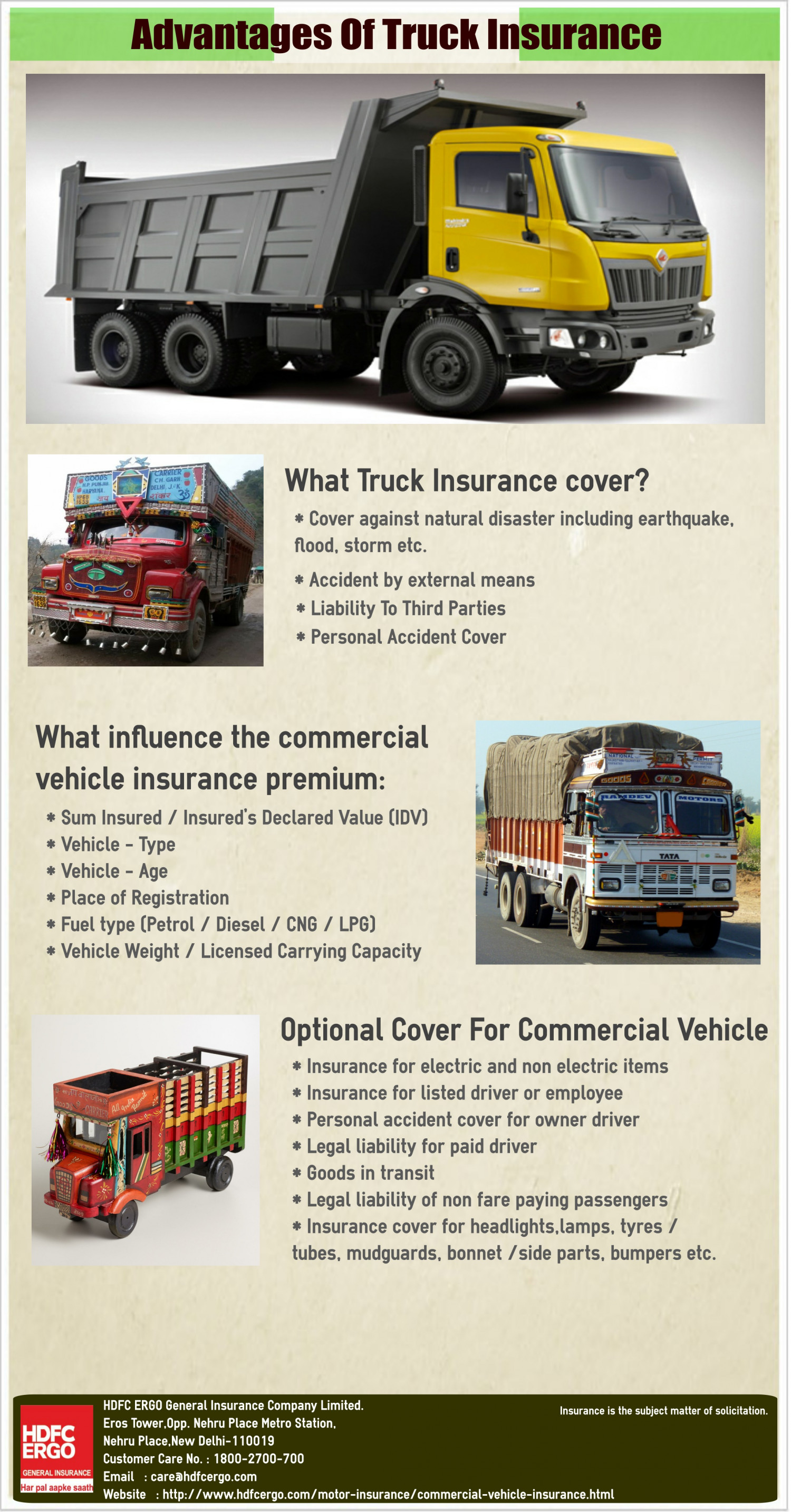 Advantages Of Truck Insurance Infographic