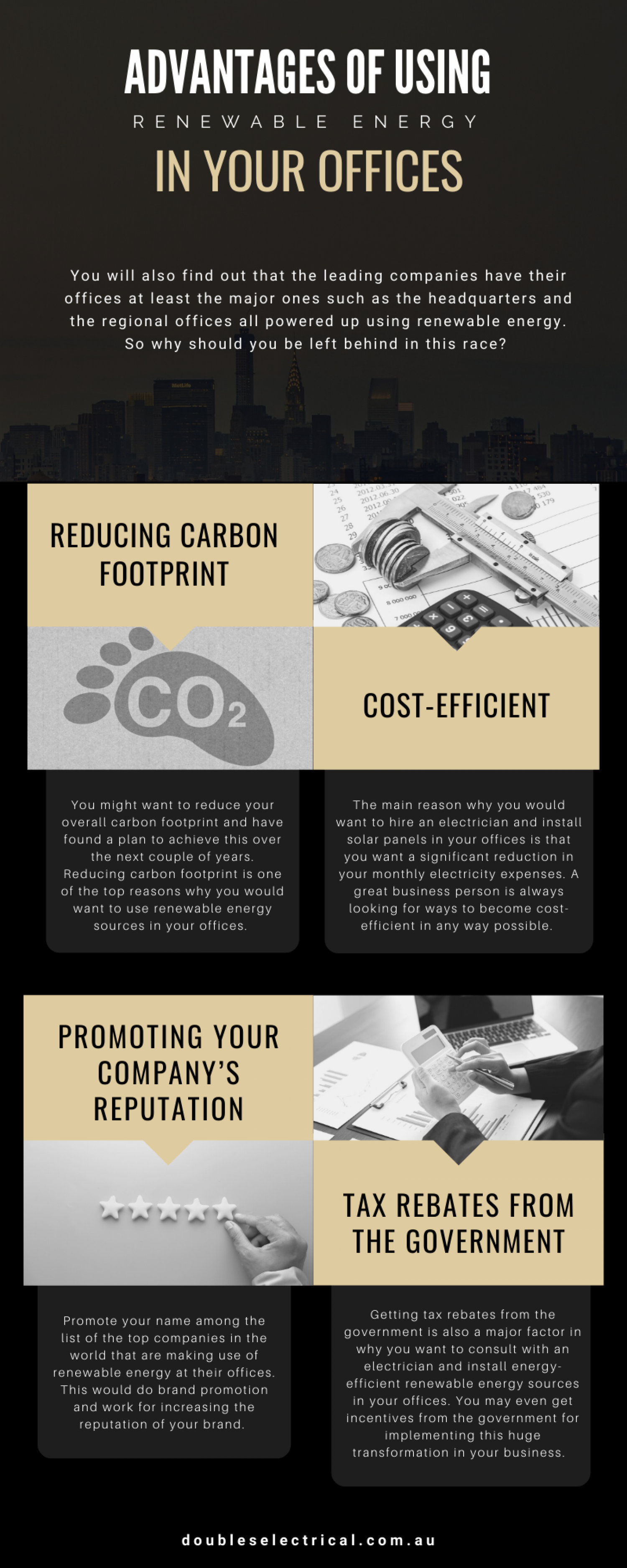 Advantages Of Using Renewable Energy in Your Offices Infographic