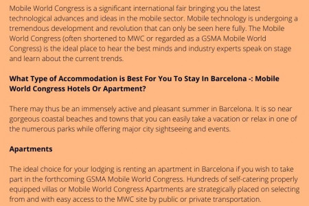 Affordable Accommodation in Barcelona for MWC Event Infographic