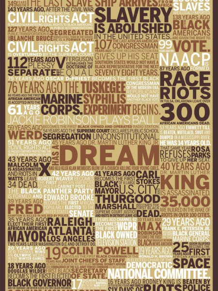 African-American in America: From Slavery to Presidency Infographic
