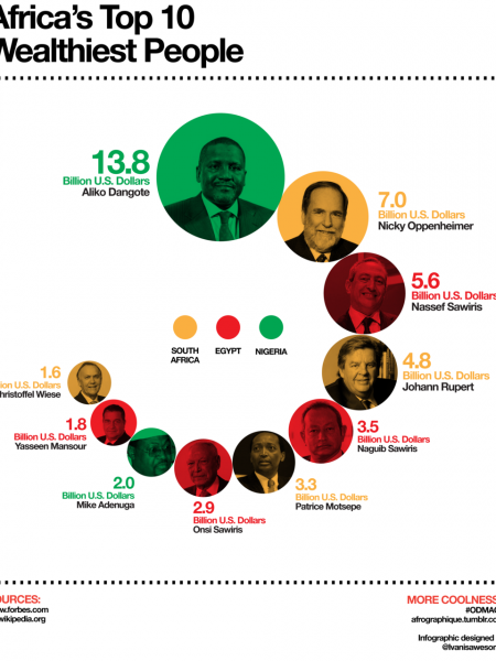 Africa's Top Ten Wealthiest People  Infographic