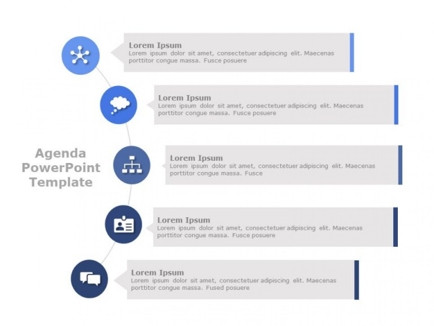 Agenda PowerPoint Template Infographic