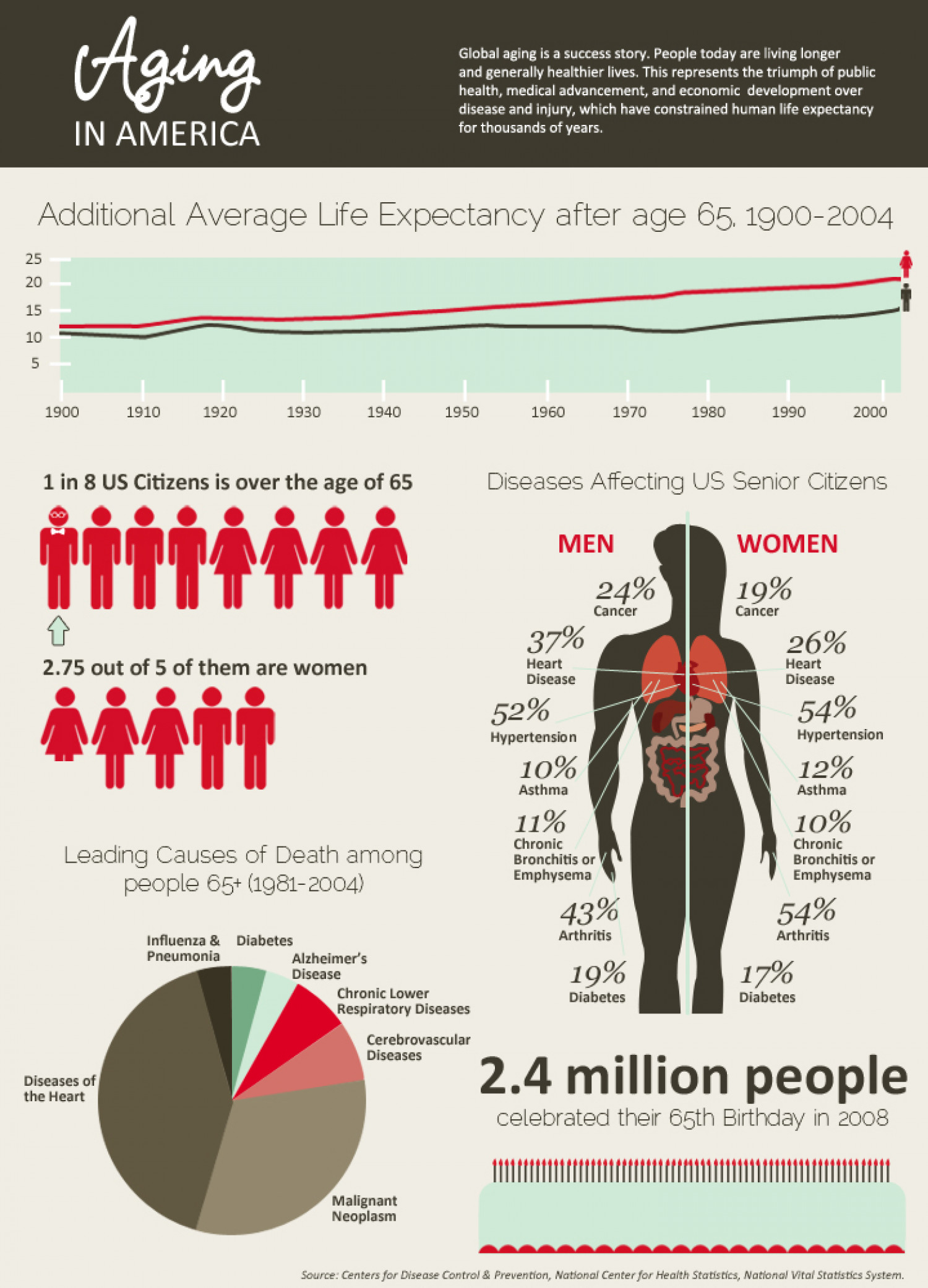 Aging in America  Infographic