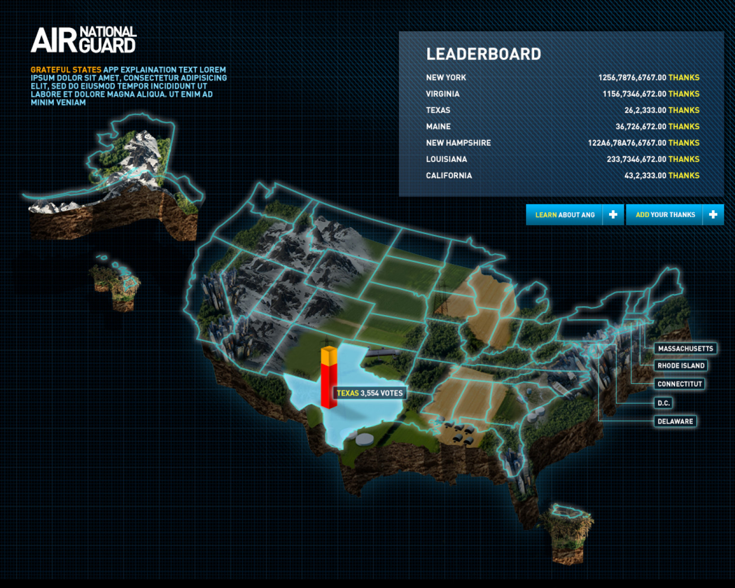 Air Guard Map Infographic