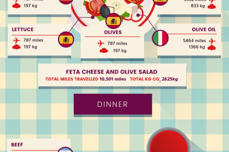 Air Mile Meals - How Far Has Your Food Travelled? Infographic