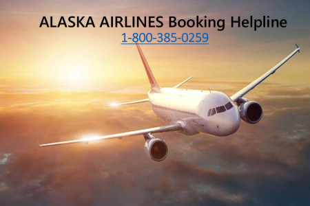 Alaska Airlines Booking Helpline - 1-800-385-0259 Infographic
