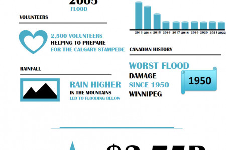 Alberta Flood Damage by the Numbers Infographic