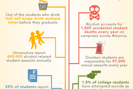 Alcohol Abuse on College Campuses Infographic