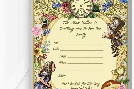 Alice in Wonderland Party Supplies - Visit now Infographic