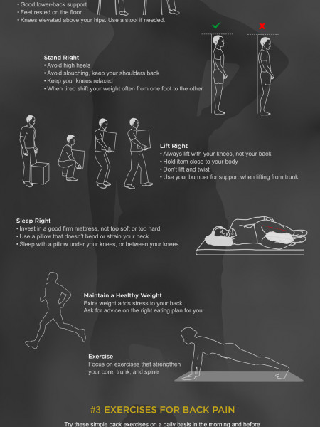 The Ultimate Guide to Relieve and Prevent Back Pain Infographic