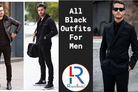 All black outfits for Men Infographic
