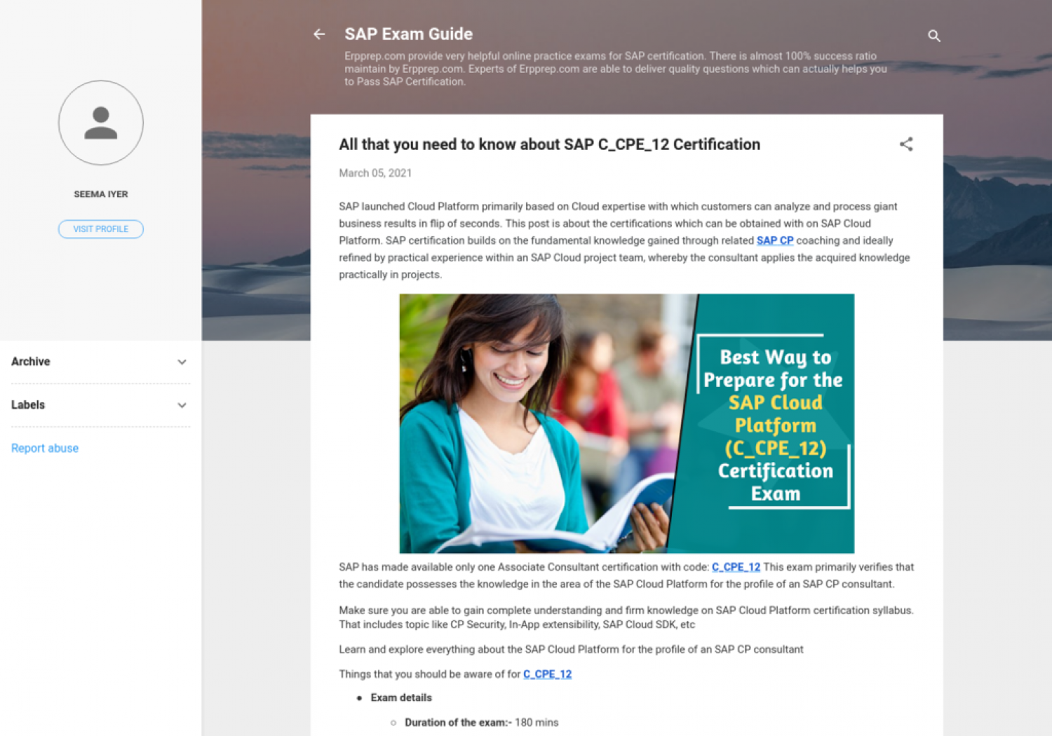 All that you need to know about SAP C_CPE_12 Certification Infographic