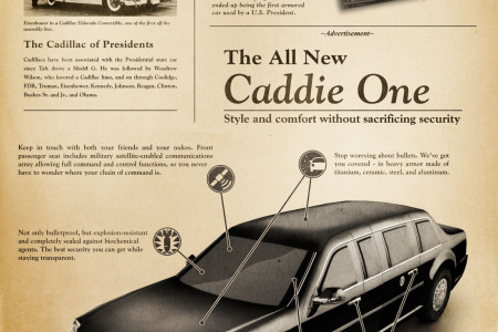 All the Presidents' Cars Infographic