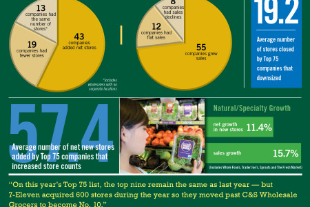 Alternative Formats Lead Top 75 Growth Infographic